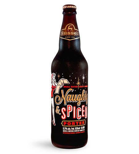 Russell Brewing Naughty & Spiced Bottle #packaging #beer #label #bottle