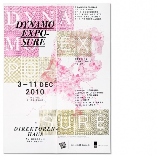 Dynamo Expo : Studio Laucke Siebein #compostition #type #poster