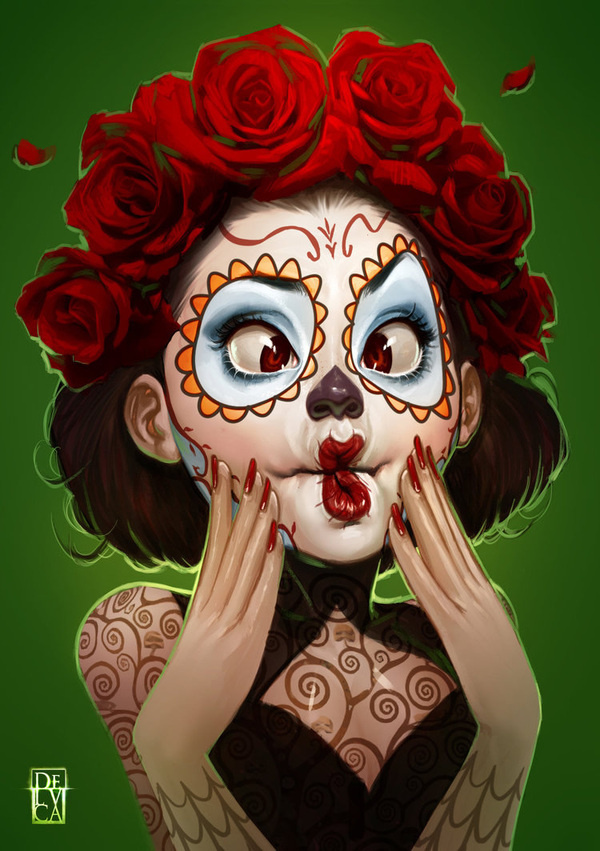 Beautiful Redhead Girls Ilustrations #redhead