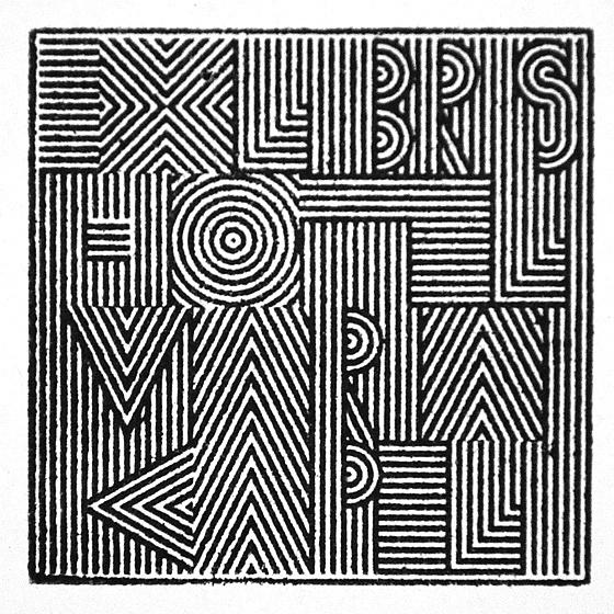 HMK EX LIBRIS www.michielschuurman.com #logo #stamp
