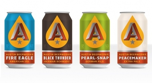 Brand Identity | Austin Beerworks | Helms Workshop #packaging #vector #branding #typography