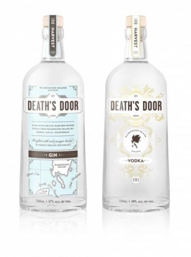 Simply Magnificent. | Death's Door Spirits #bottle #packaging #county #door #liquor #wisconsin #spirits #deaths