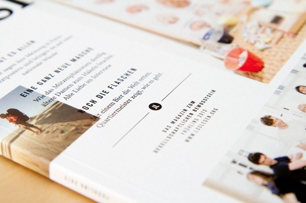 """loslegen"" magazine on Behance #print #detail #magazine #typography"