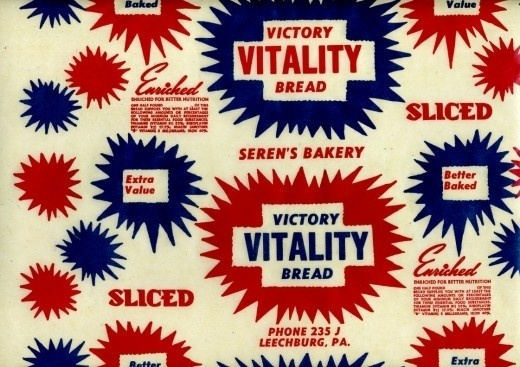 US Bread Wrappers of the 40s and 50s | HOW TO BE A RETRONAUT #packaging