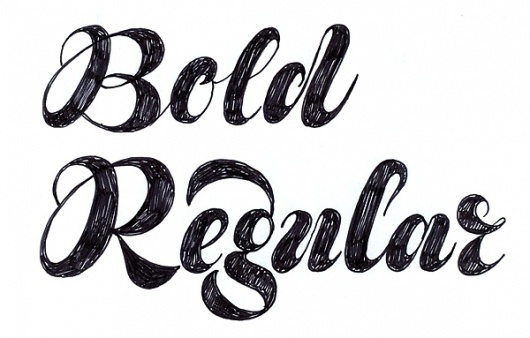 Daily Type #lettering #white #ink #black #pen #and #hand #typography