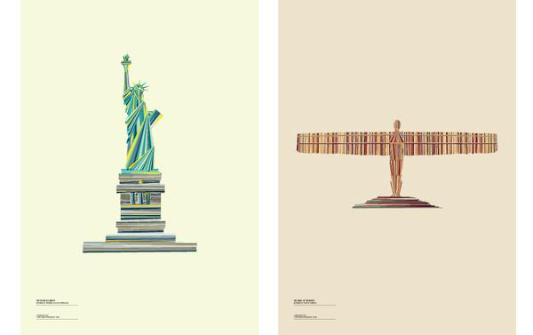 Tumblr #statue #stripes #vector #color