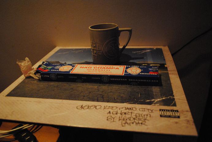 London coffee, nag champa & kendrick2 | Flickr - david walby #nag #walby #vinyl #photography #lamar #kendrick #champa #david #incense