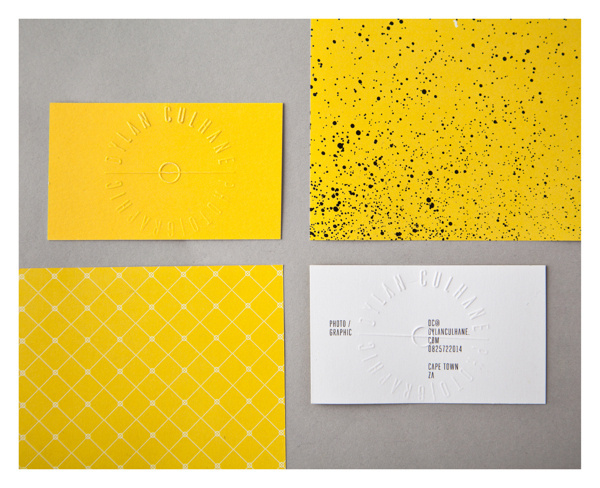 dylan_culhane_15 #pattern #stationary #business #card #yellow #silk