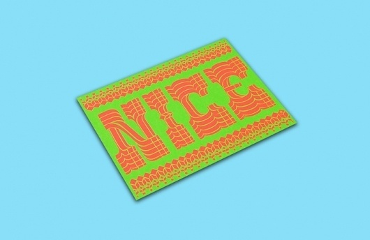 NICE / itsnicethat.com #type #print #pattern #nice