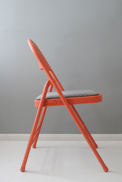MAKEKIND: Creative DIY projects from graphic designer, Christine Wisnieski | Design For Mankind #pattern #chair #design #color #chevron #diy