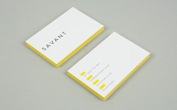 Savant — Ranch #edge #coloring #business #card #print #yellow