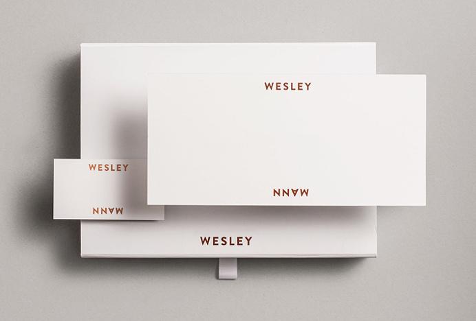 Wesley Mann by Heydays #logotype #logo #print #metallic foil #box #stationary