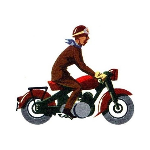 Vintage Motorcycle #typetoy #illustration #vintage #man #motorcycle