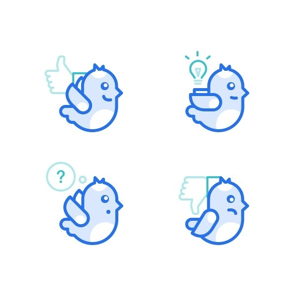 Dmitri Litvinov - Birds Illustrations #icon #design #birds #illustration #picto #symbol
