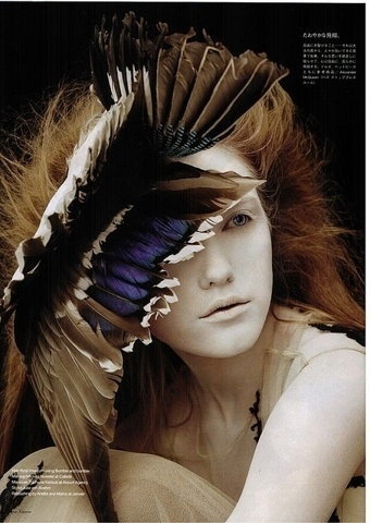 FFFFOUND! | All sizes | Incognito, Vogue Nippon by Ben Hassett | Flickr - Photo Sharing! #woman #incognito #feather #redhead #ben #hasset