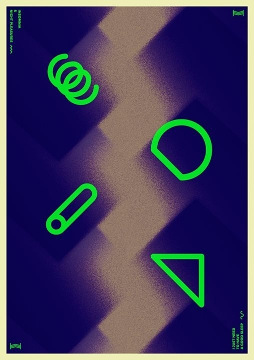 Insomnia & night pleasures #fluo #vector #print #sleep #minimal #poster #paper #rest #insomnia