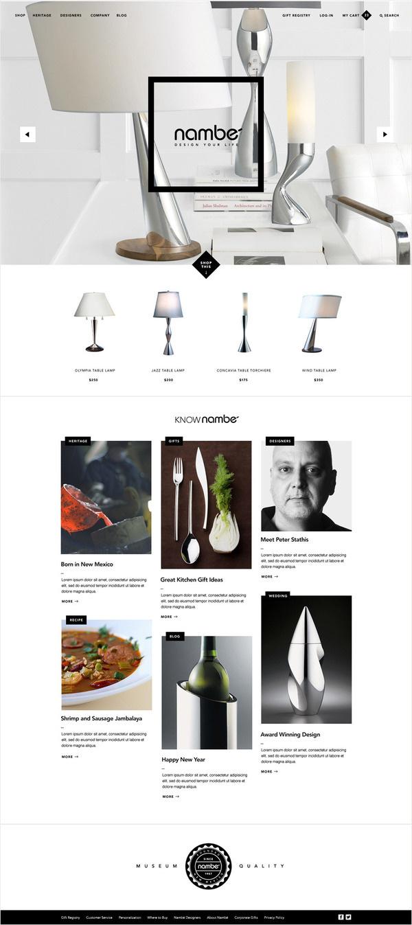 Nambe Website Kyle Gabouer Design #website #layout #nambe
