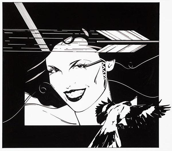 Just Looking Gallery - Patrick Nagel: Playboy Arrow and Bird #patrick #illustration #playboy #nagel