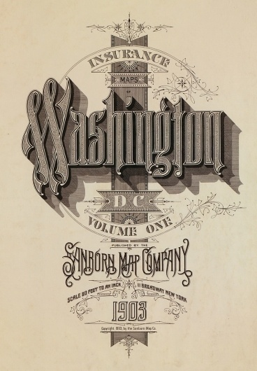 BibliOdyssey: Sanborn Fire Insurance Map Typography #heading #vintage #typography