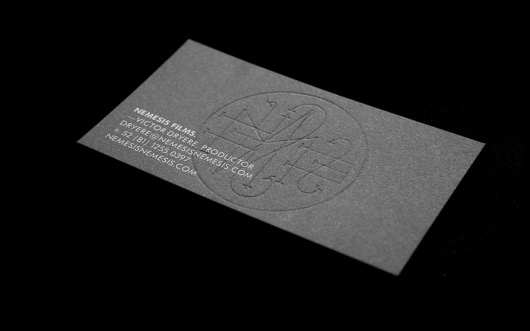 Anagrama | Nemesis Films #card #letterpress #business