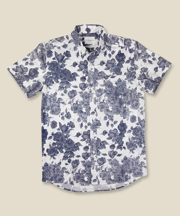 Saturdays Surf NYC Esquina Floral Shirt White/Blue #fashion #shirt #floral #menswear