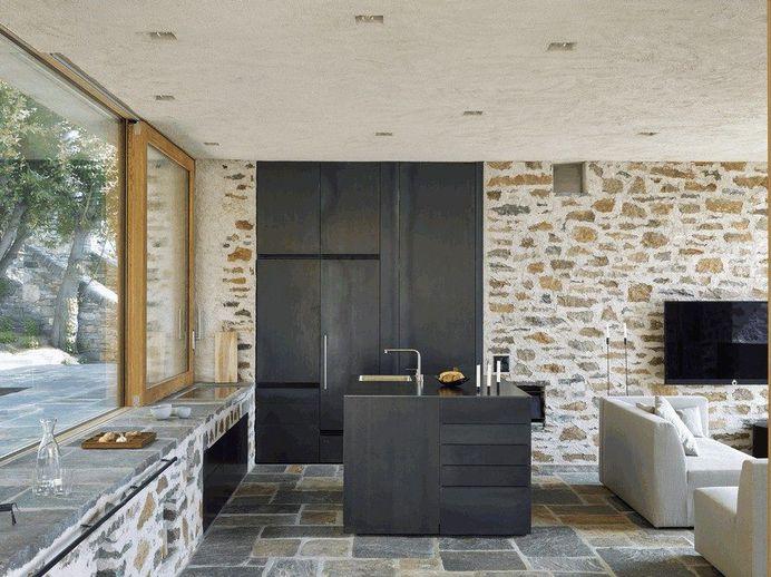 Stunning Stone House in Switzerland Unveils Modern Interiors 6