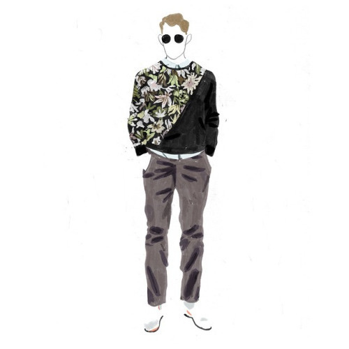 Guy for A|X SS15, Dadu Shin #illustration #shin #dadu #drawing