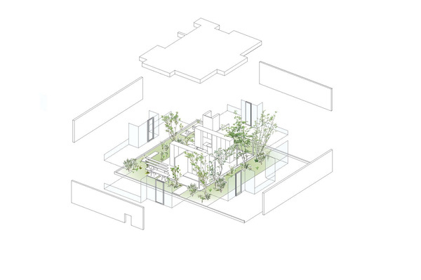 Green Edge House / mA-style architects #architecture #drawing