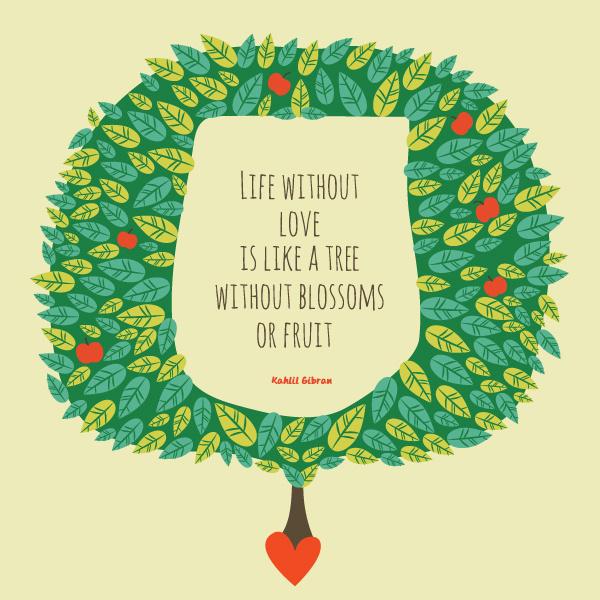 The Gift of Words #tree #wise #fruit #orange #plant #wisdom #leaves #swords #love #green