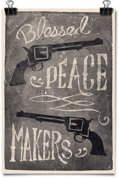 Blessed Peace Makers Art Print #pistol #gun #print #poster #america