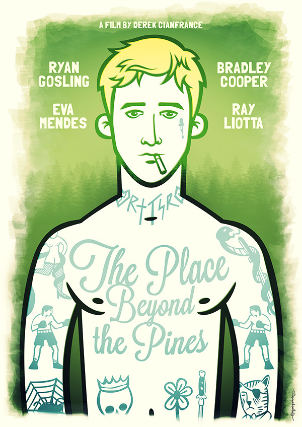 """""""The Place Beyond the Pines"""" alternative poster by hugraphic #movie #pines #place #the #illustration #poster #beyond"""