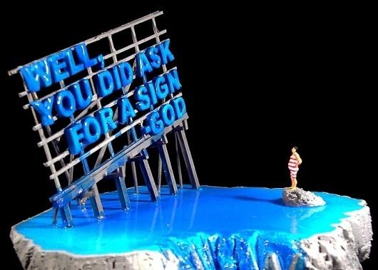 Dimitris Polychroniadis #sculpture #billboard #sign #pop #polychroniadis #diorama #religion