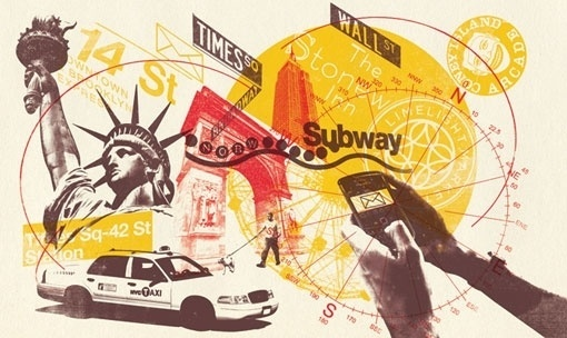 design work life » cataloging inspiration daily #liberty #phone #taxi #hands #collage