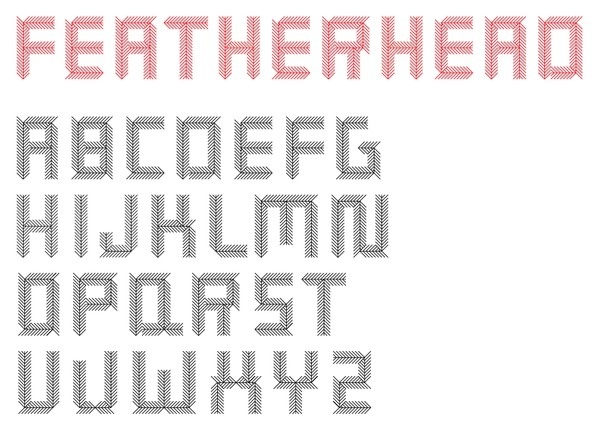 http://clubmumble.com/wp-content/uploads/2011/06/Featherhead.png #type #design #typography