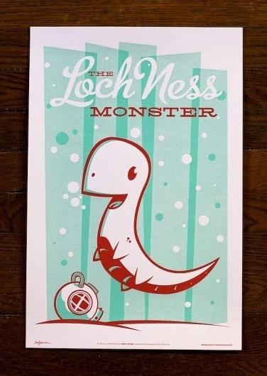 Monster Friends Poster Series – The Avant Garage #monster #lochness #illustration #poster