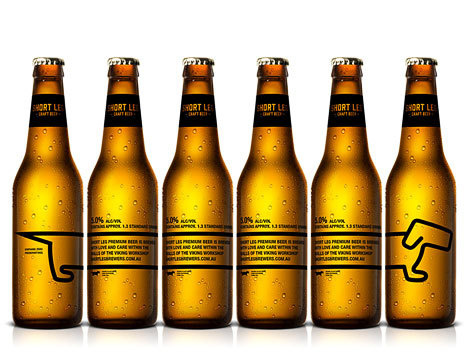 Short Leg Craft Brewers Bottles #beer #label #bottle