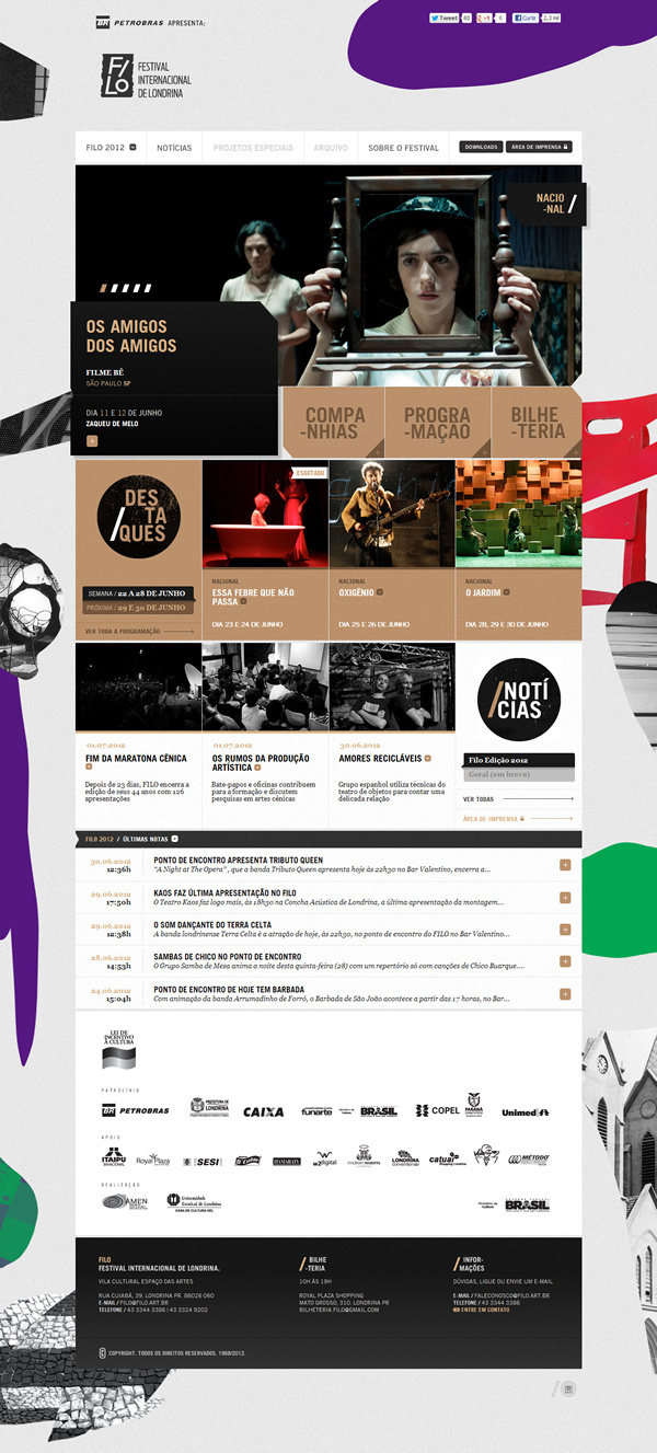 Filo Festival 2012 | Londrina on the Behance Network #web