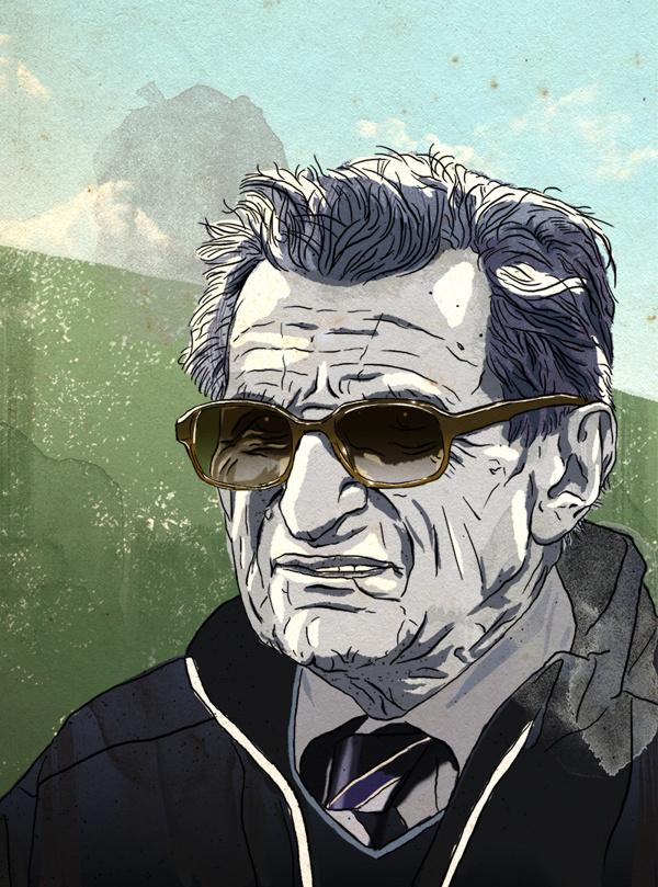 ESPN: Joe Paterno on Behance #glasses #penn #paterno #college #illustration #portrait #coach #joe #state #football
