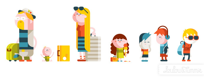 Up! « LouLou & Tummie #character #minimal #people #character design #geometric