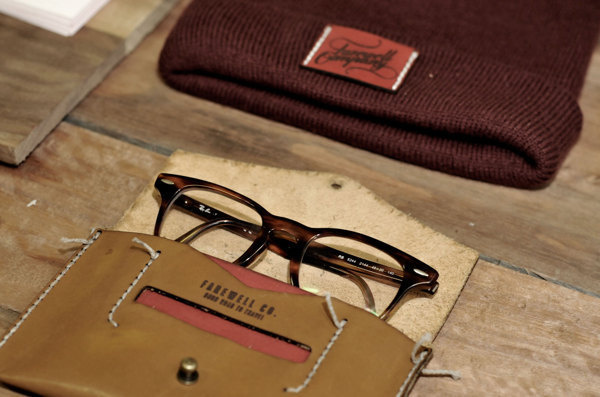 Farewell Co. on Behance #glasses #accessories #specs #beanie #leather #fashion