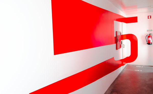 Signage and Wayfinding for Innovation Center on Behance #interior #graphics #graphic #wall #type