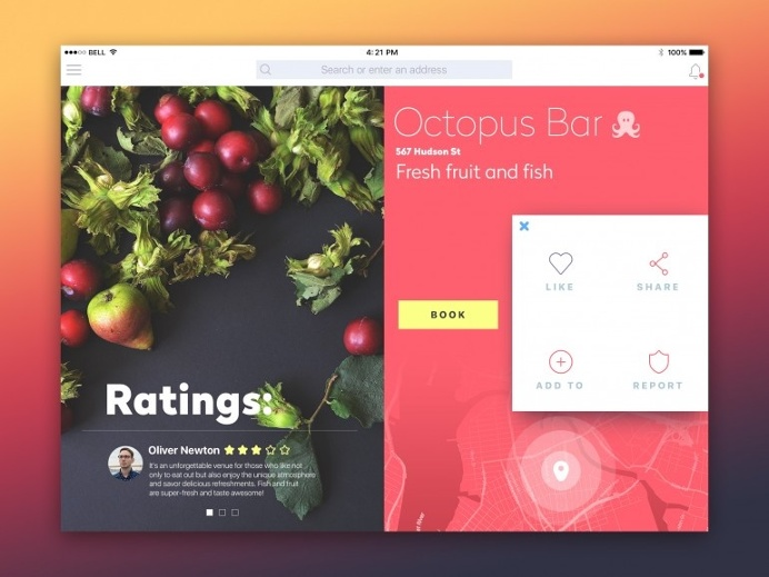Octopus Bar iPad App