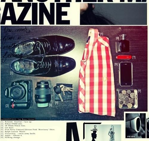 my stuff. #shoes #camera #essentials #jayroux #men #fashion #style
