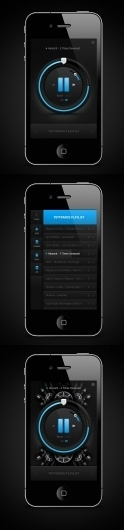 iPhone Music Player on the Behance Network #mobile #interface