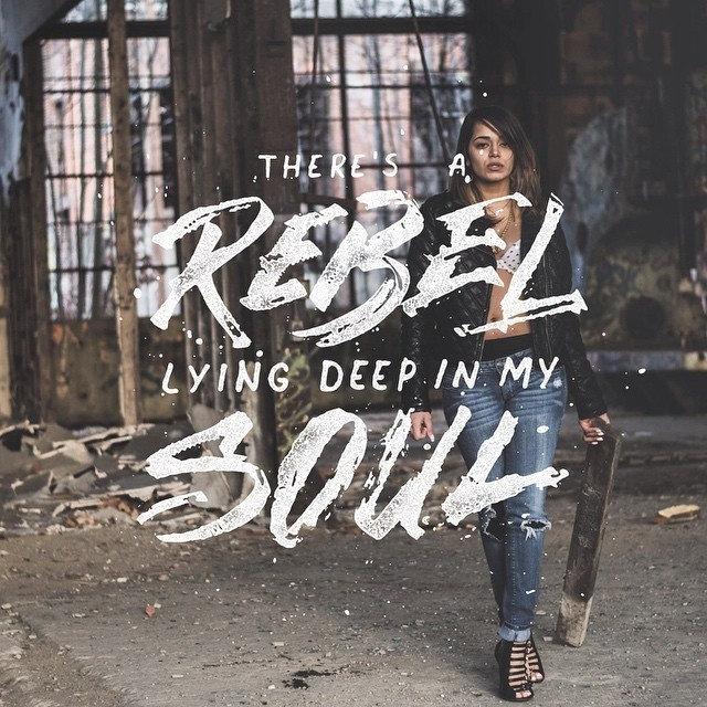 Hand Lettering There is A Rebel Lying Deep In My Soul #graphic