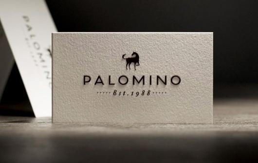 Blog « Superbig Creative #business #card #letterpress #palomino #restaurant #logo #paper