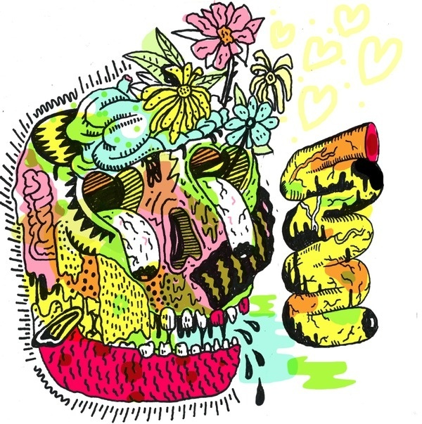 sharpie drawing ive been working on #punk #monsters #typeography #brains #painting #art #fashion #tattoos #skull #drawing #flowers