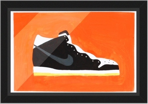 Michael Arnold - Illustration + Design - Acrylic on Gloss paper A3, possibly up for sale… #shoes #illustration #nike #sneakers #painting #street #fashion #footwear