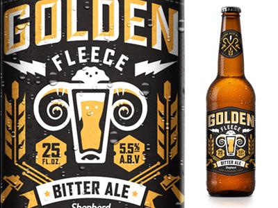 Goldenfleecebeer_shepherdagency #beer #illustration #typography
