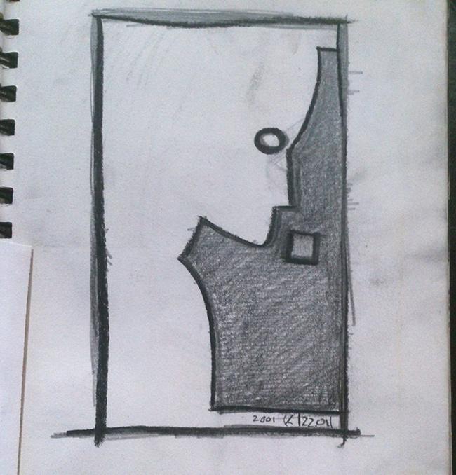 radar_five_media_logo_sketch #alien #design #space #illustration #five #radar #logo #media